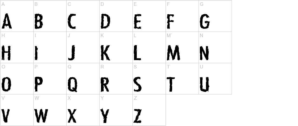 Zfonts uppercase