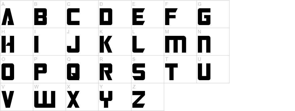 Transformers Normal uppercase