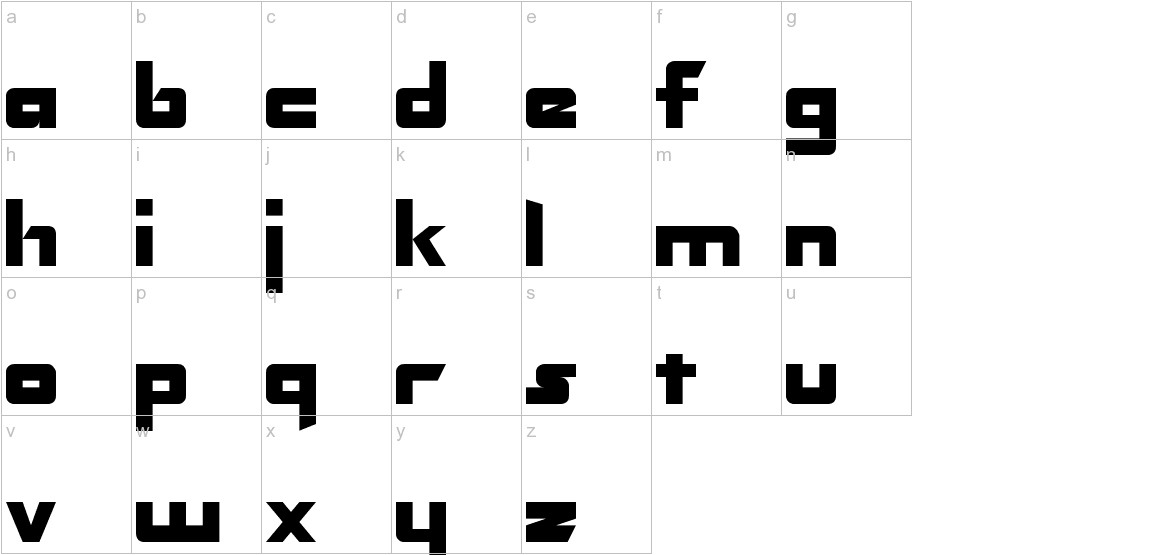 Transformers Normal lowercase