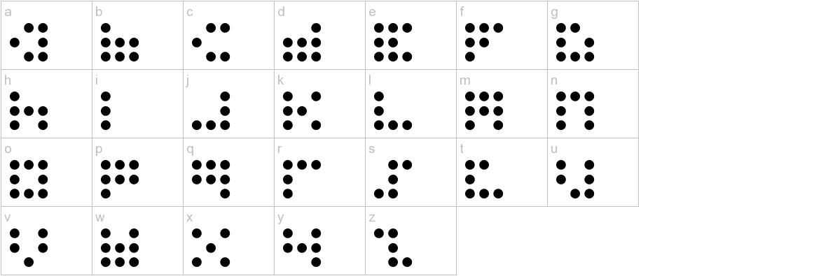 3x3 dots lowercase