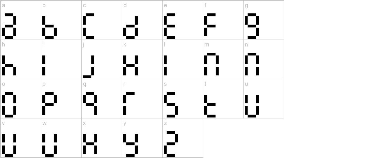 7LineDigital lowercase