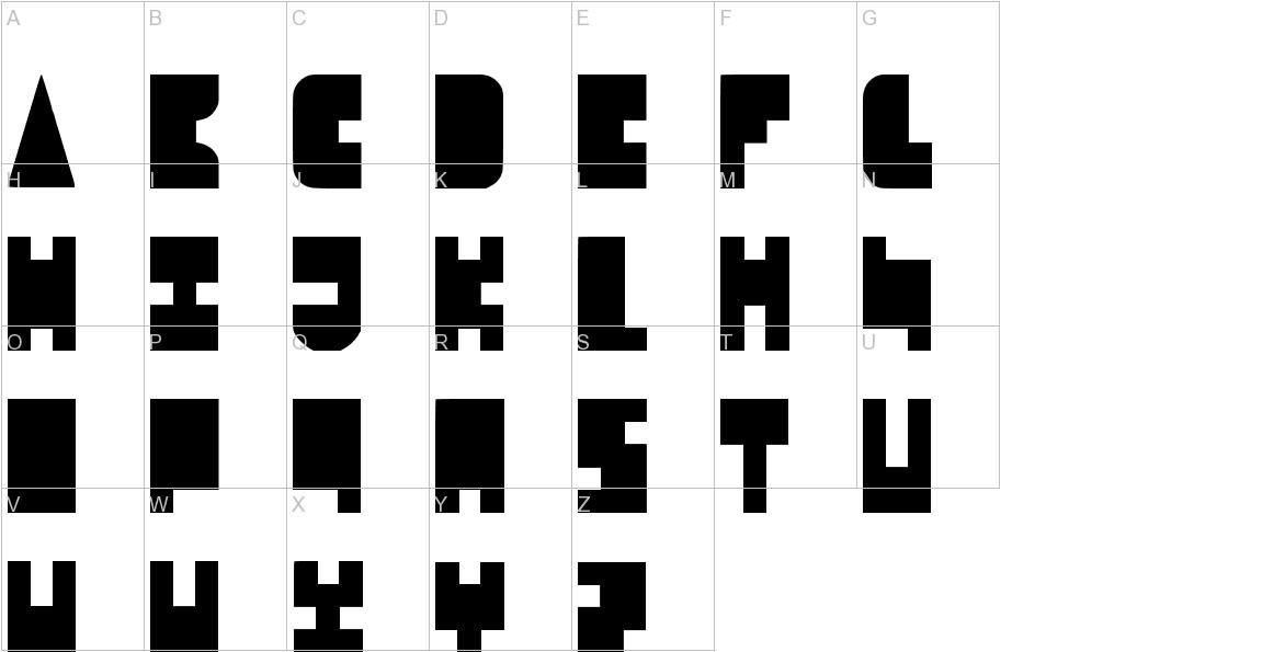 8-bit Block Party uppercase