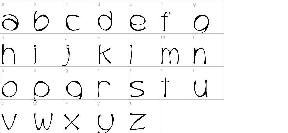 Trubble lowercase