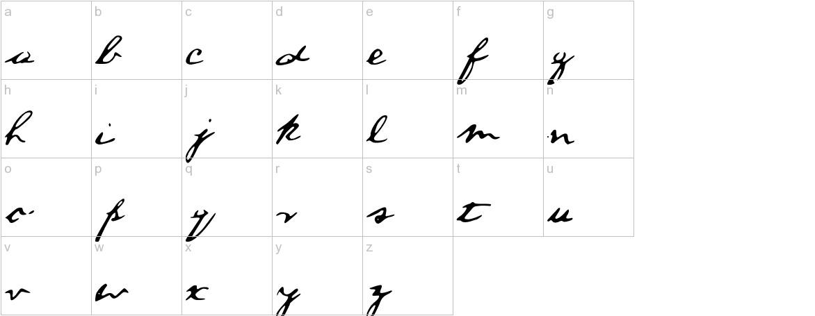 ALincolnFont Medium lowercase