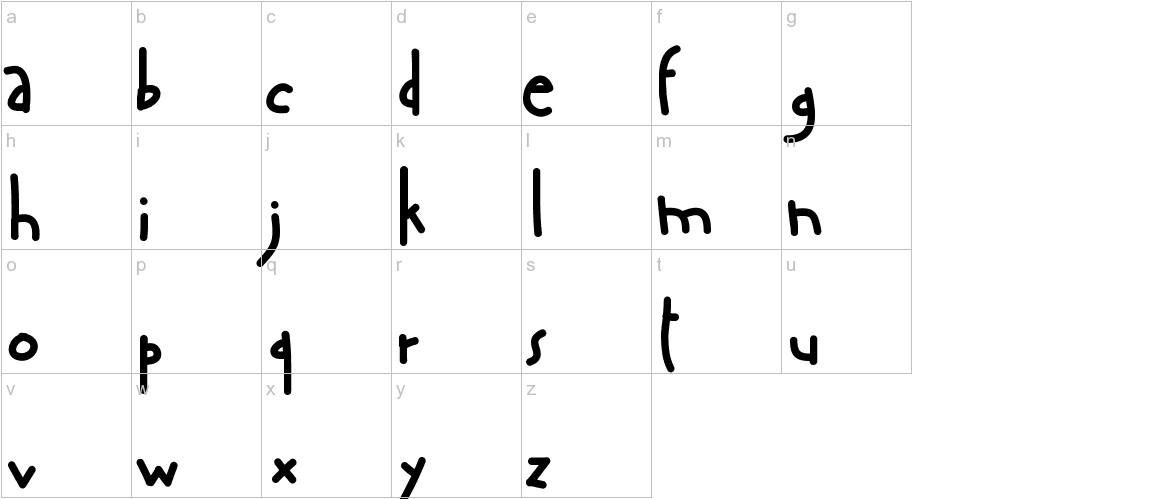 AManoBoldensada lowercase