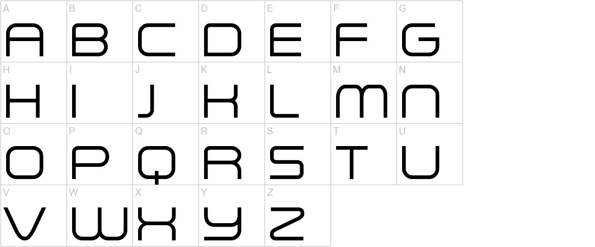 A Space uppercase