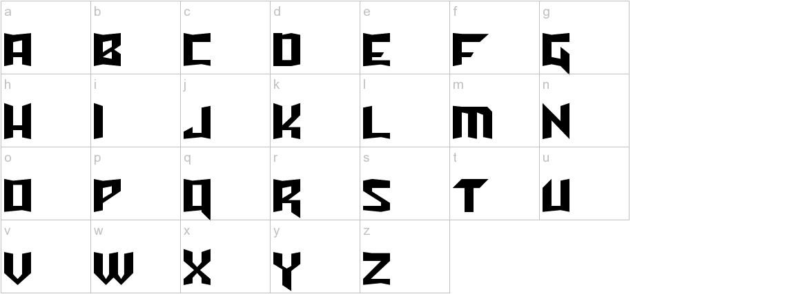 Turok Normal lowercase