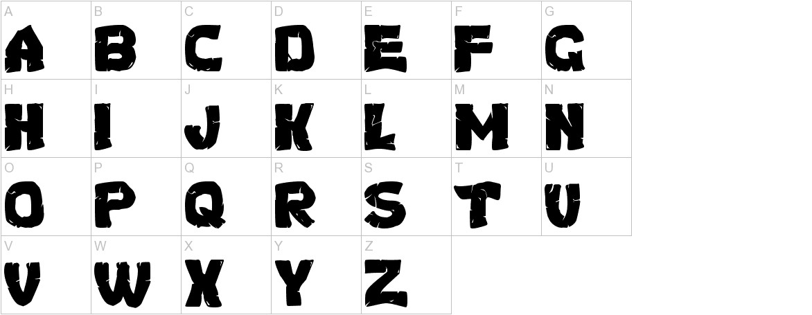 Turtles Normal uppercase