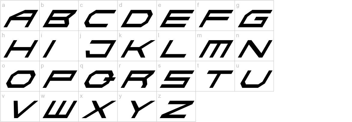 Absolute Zero Italic lowercase