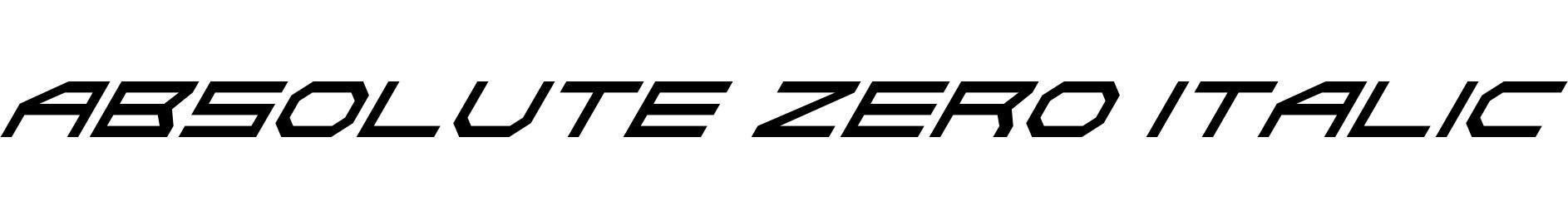 Absolute Zero Italic