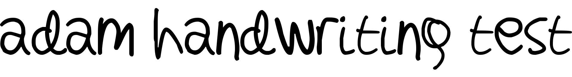 adam handwriting test