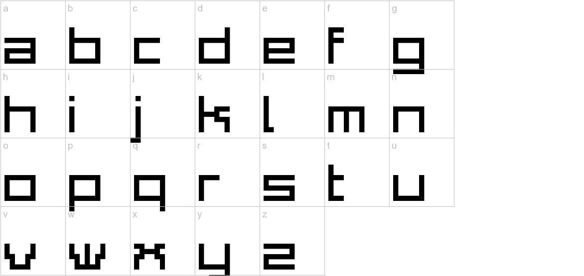 Adelphi Plain lowercase