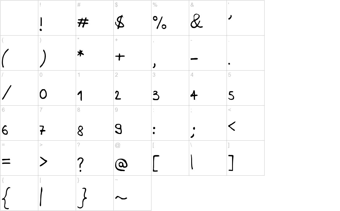 Adenote characters