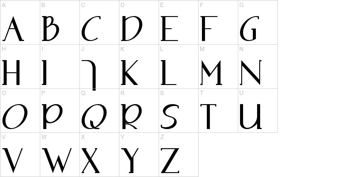 Adolphus Serif uppercase