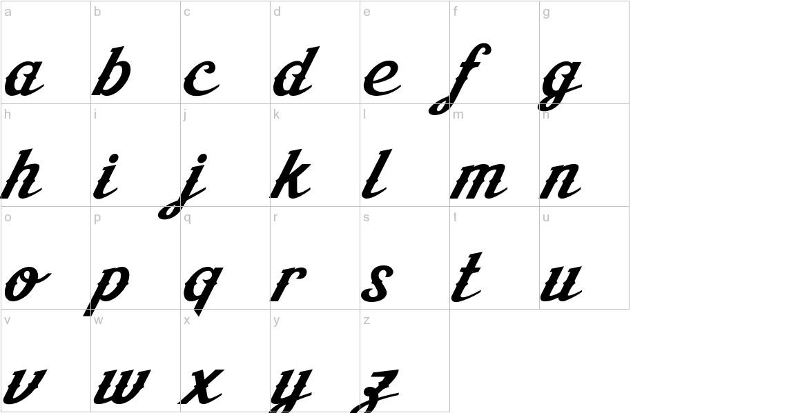 Aisha Script lowercase