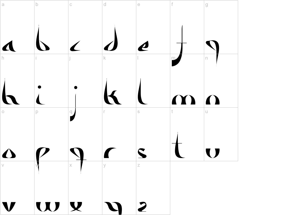Alameda lowercase