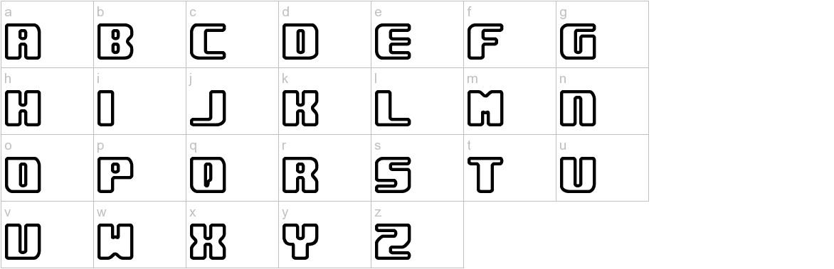 Underwhelmed Outline (BRK) lowercase