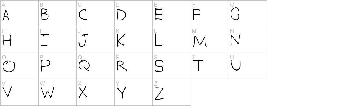 Alex's Writing uppercase