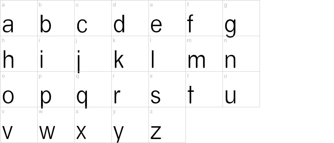 Almira lowercase