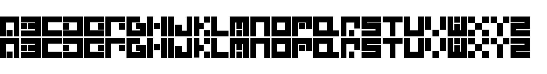 Alpha Quantum Glyphset