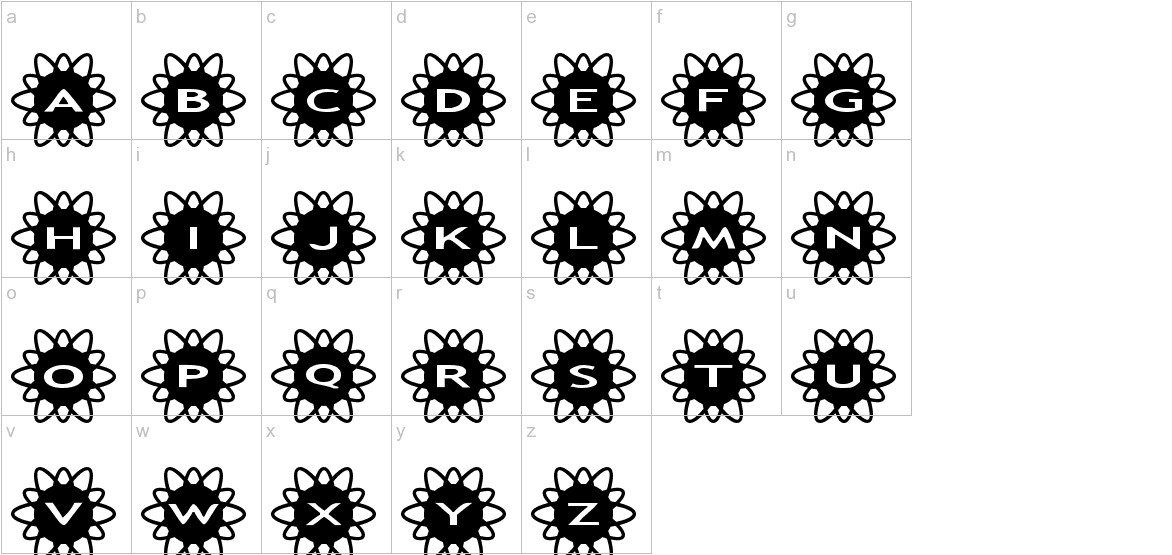 AlphaShapes flowers 2 lowercase