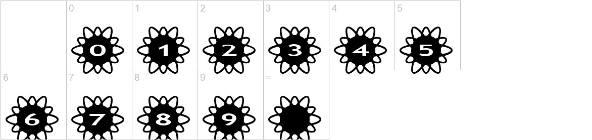 AlphaShapes flowers 2 characters