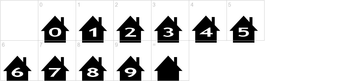 AlphaShapes houses characters