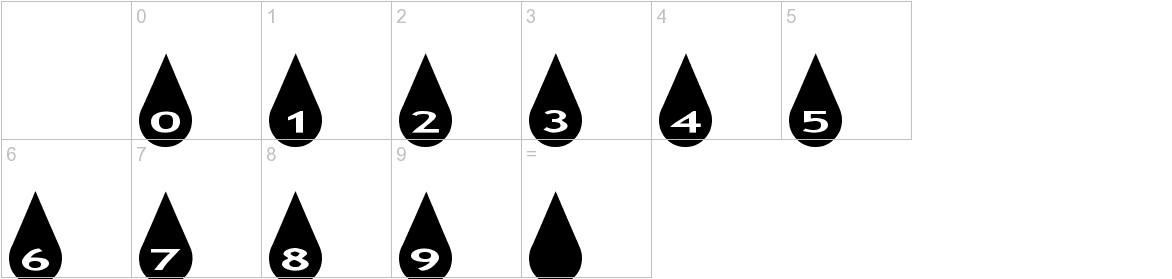 AlphaShapes raindrops characters