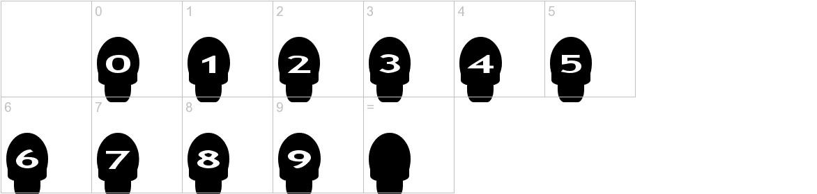 AlphaShapes skulls characters