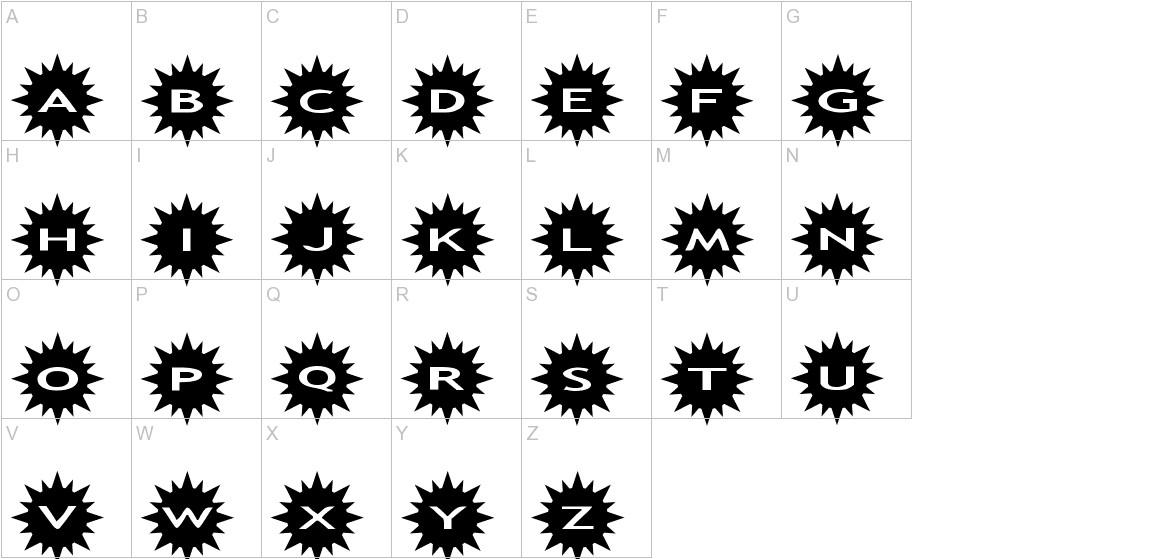 AlphaShapes sunshine uppercase