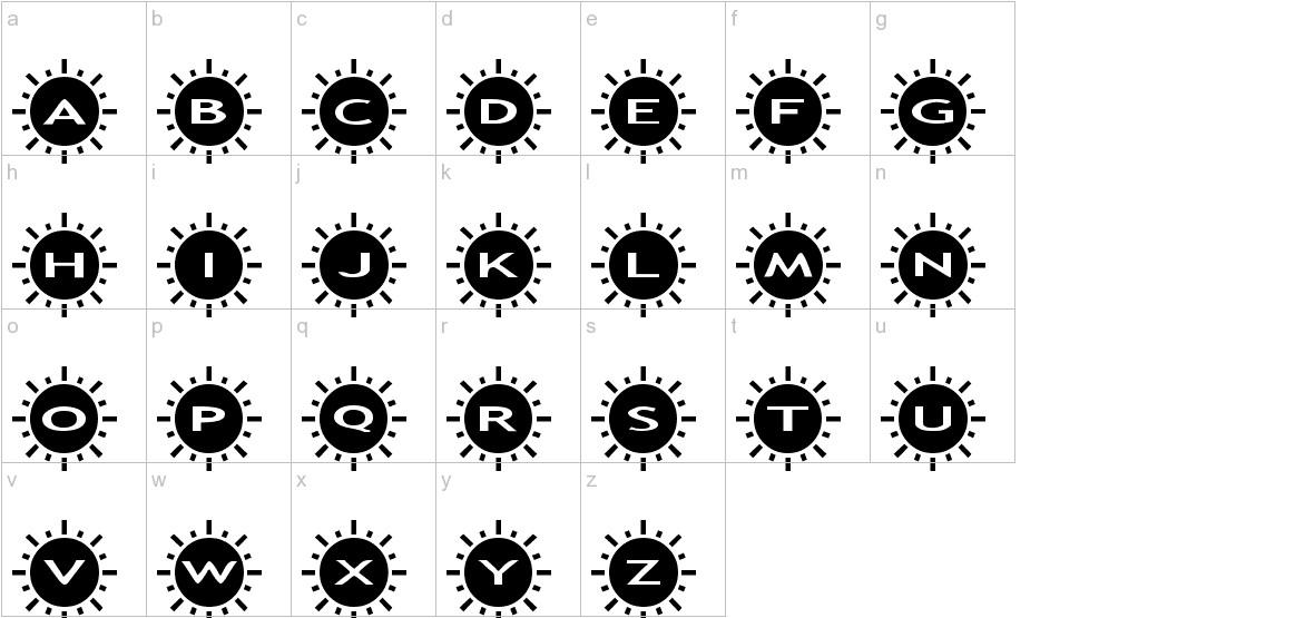 AlphaShapes sunshine 2 lowercase