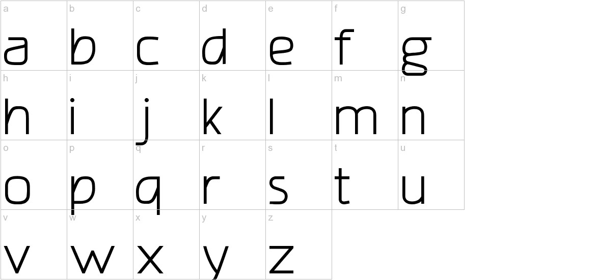 amatraca grotesqueRegular lowercase