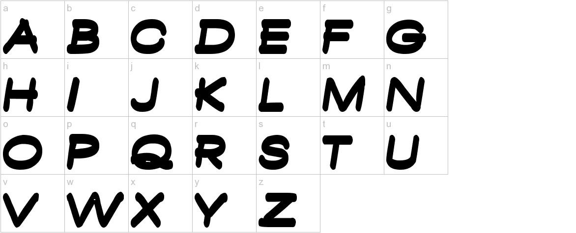 Ambambo Bold lowercase