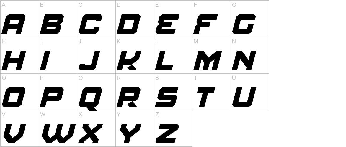 Amuro Bold Italic uppercase