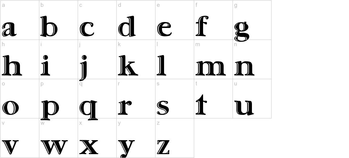 Ursa SerifEngraved lowercase