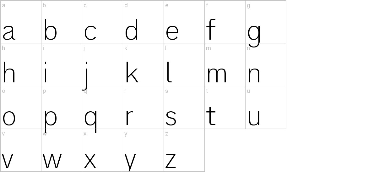 Analogue Reduced 35 Thin lowercase