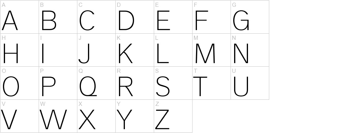 Analogue Reduced 35 Thin uppercase