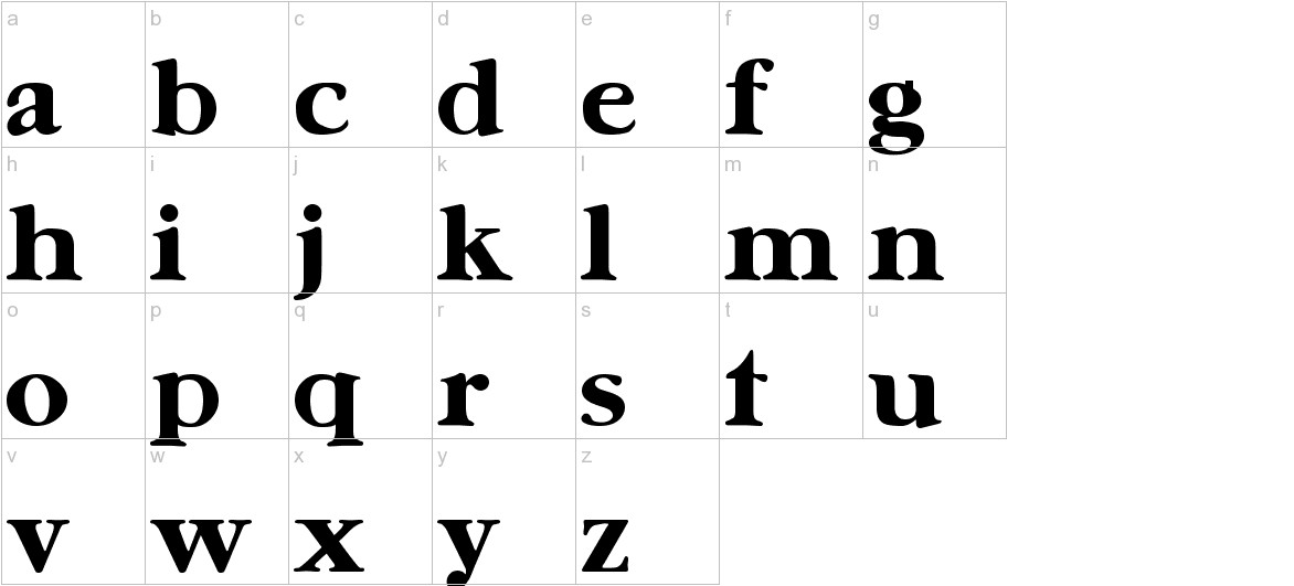 UrsaSerif Bold lowercase