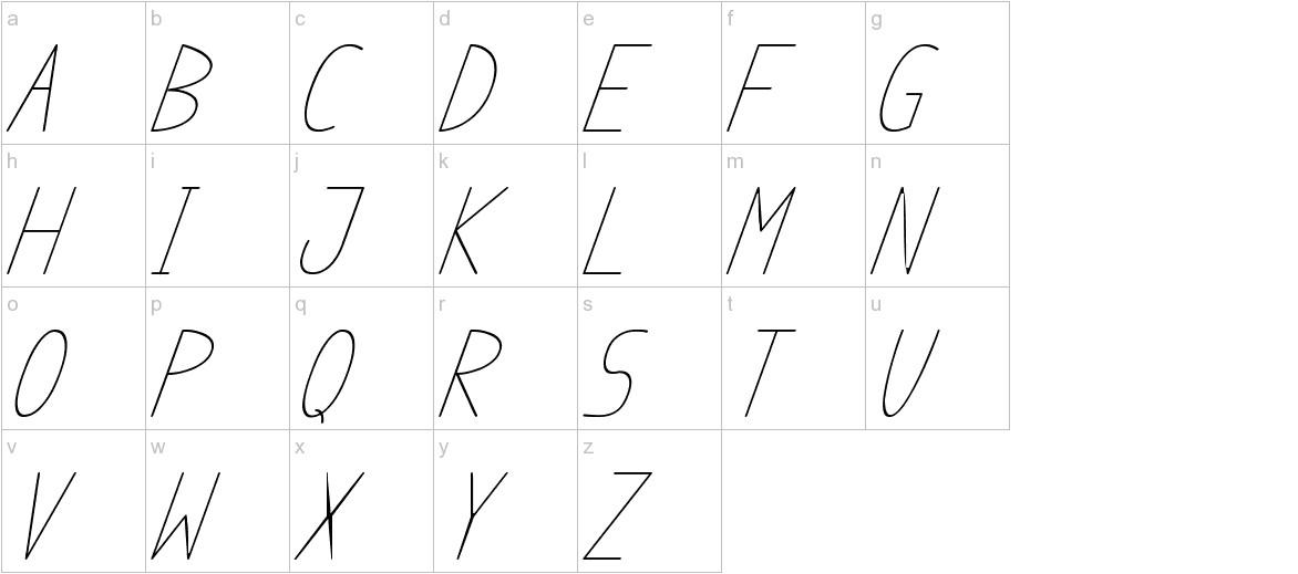 anome ibul cursive lowercase