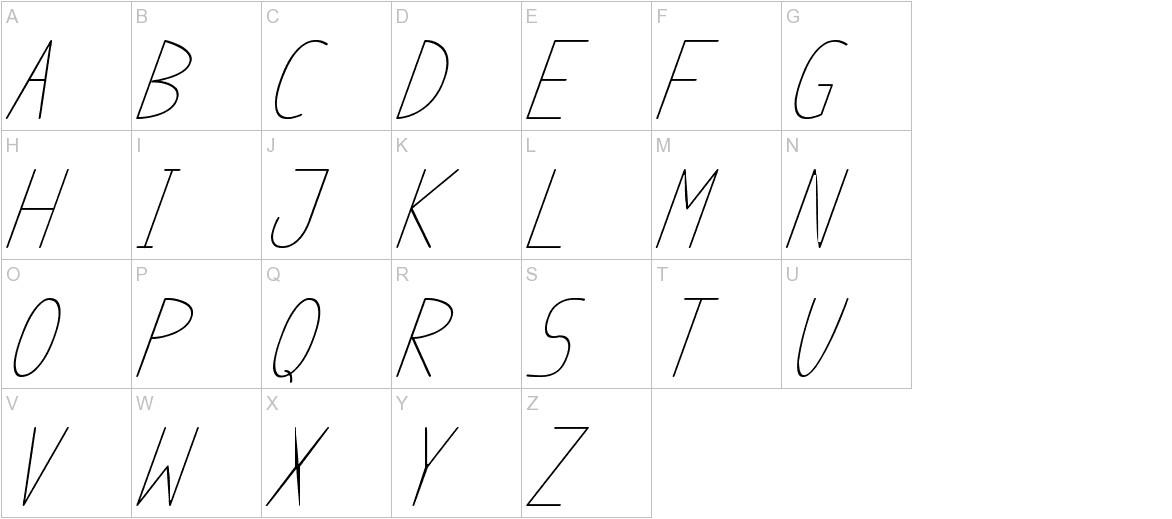 anome ibul cursive uppercase