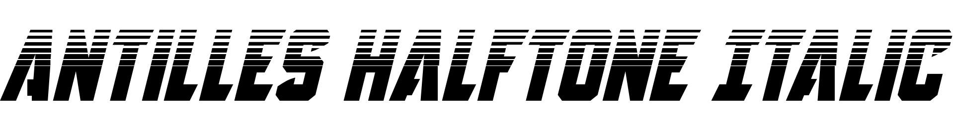 Antilles Halftone Italic