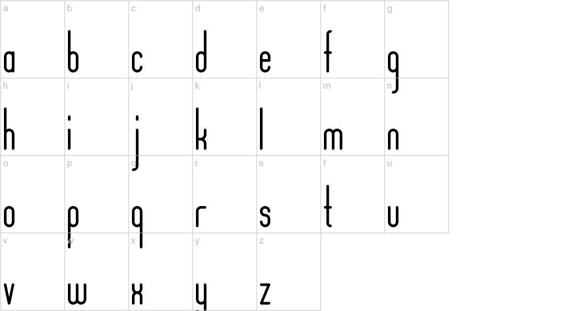 Aposiopesis Condensed lowercase
