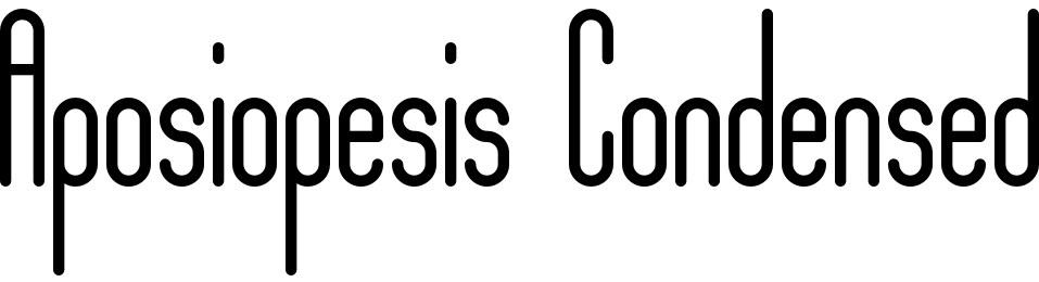 Aposiopesis Condensed