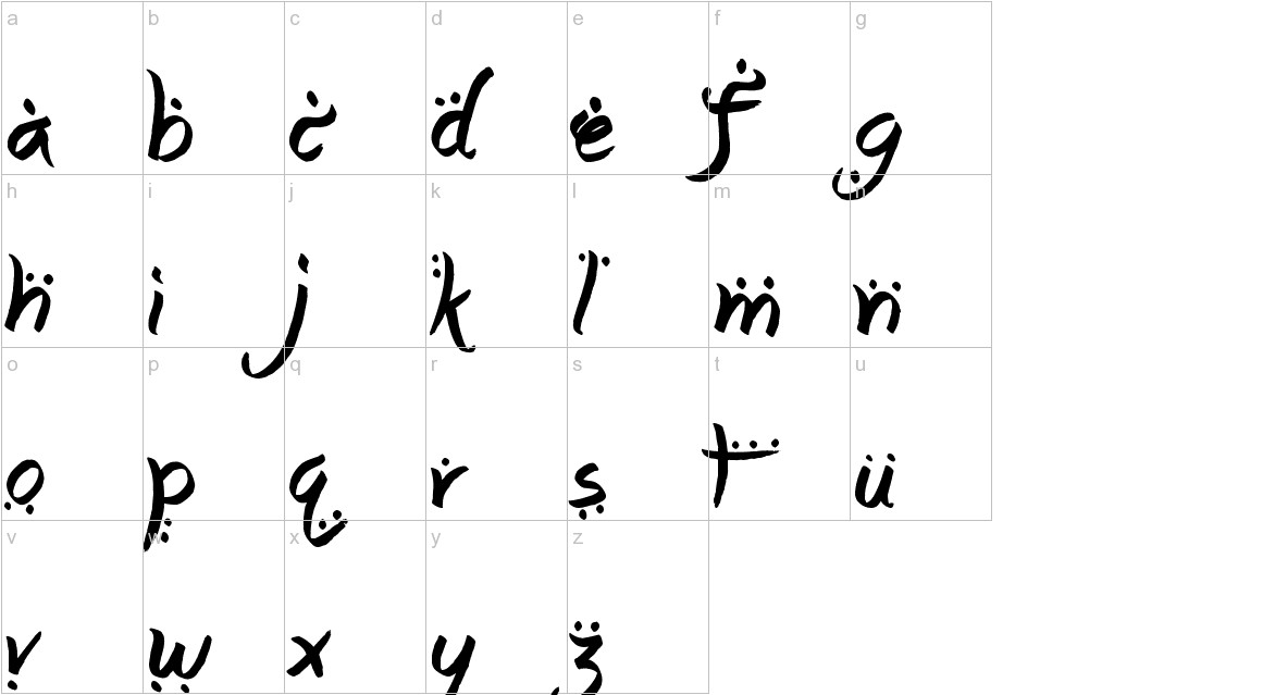 Arabic Magic lowercase