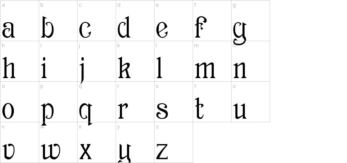 Archaic1897 lowercase