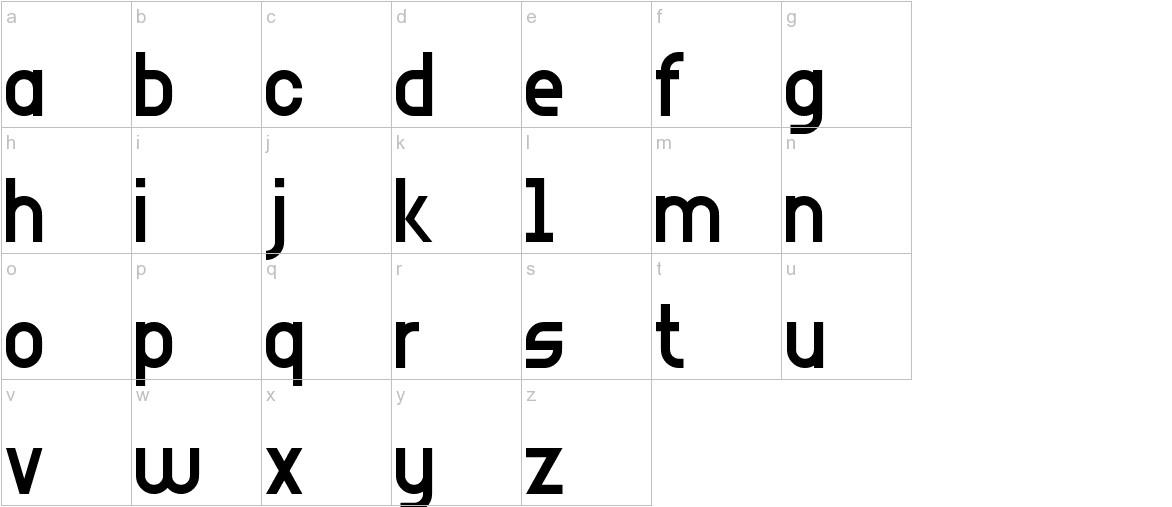 Arial Narrow 7 lowercase