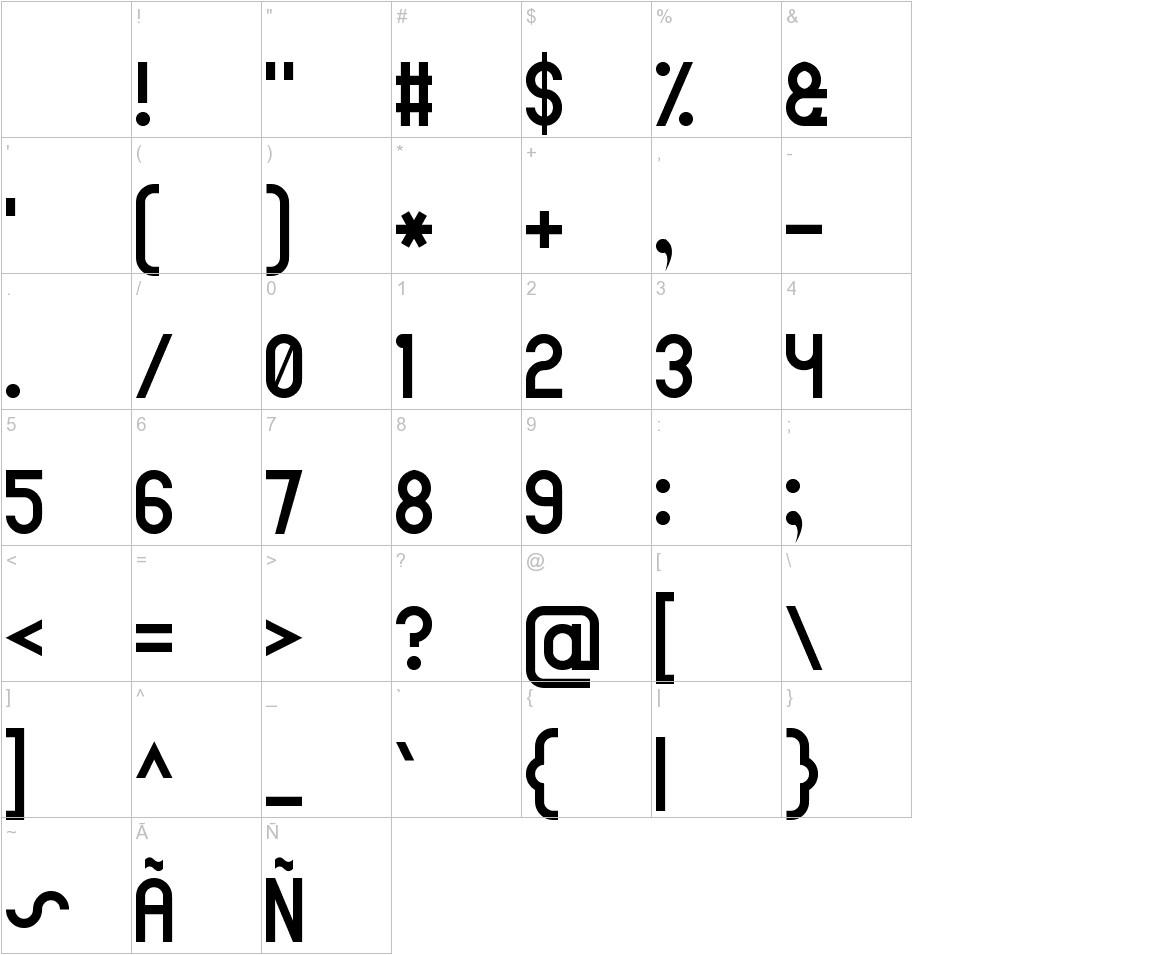 Arial Narrow 7 characters