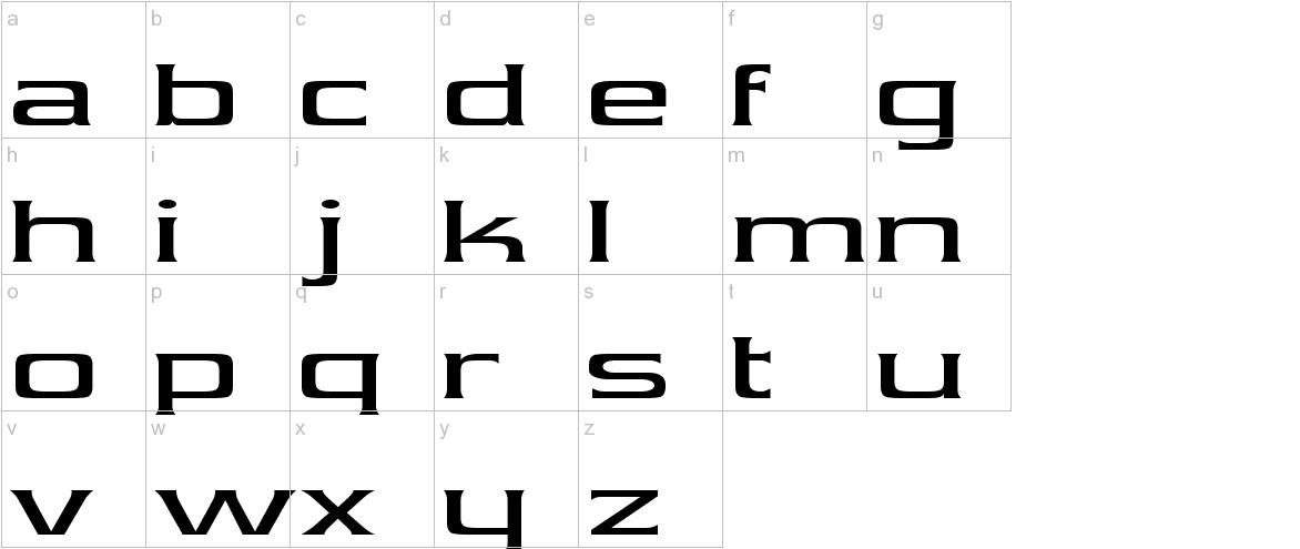 Vibrocentric lowercase