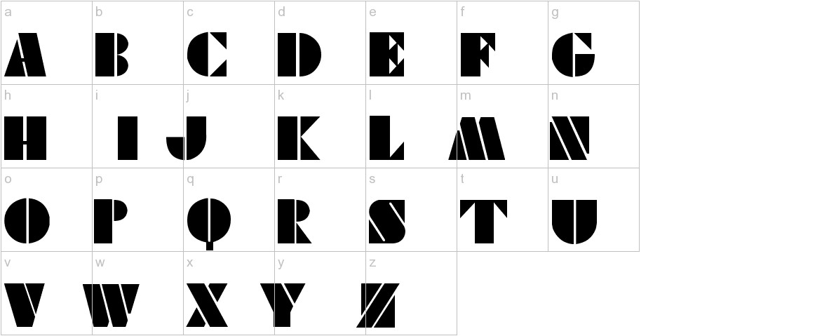 vikingstencil lowercase