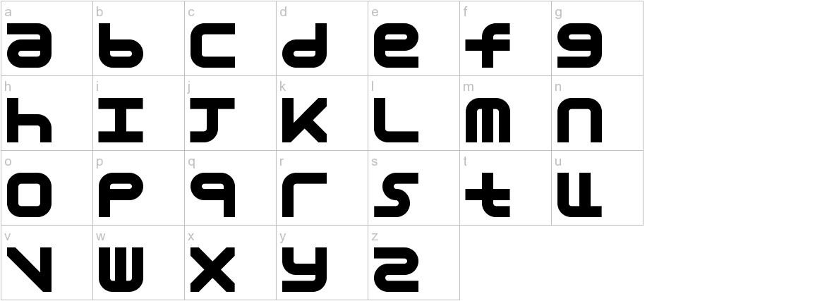 Astronomic Mono lowercase